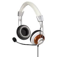 Наушники с микрофоном проводные Hama HS-320 белый (оголовье)