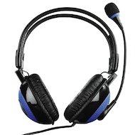 Фото Наушники с микрофоном проводные Hama uRage Vibra черный/синий (2.5м) накладные (оголовье)
