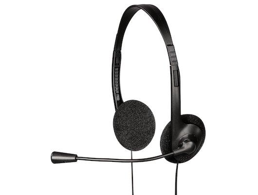 Наушники с микрофоном проводные Hama HS-101 черный