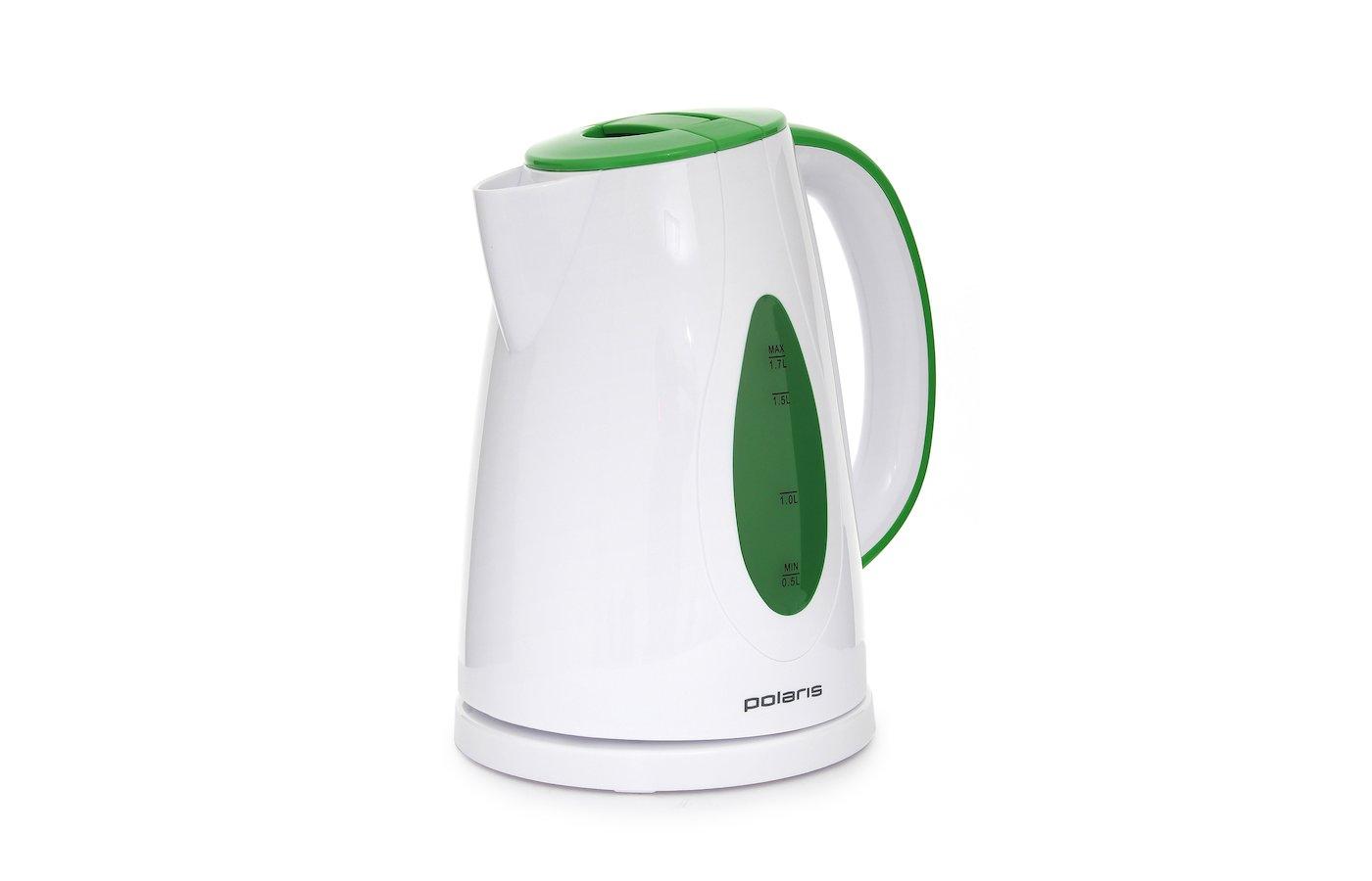 Чайник электрический  POLARIS PWK 1752 C белый/зеленый