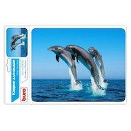 Фото Коврик для мыши BURO BU-M40083 пластиковый дельфины