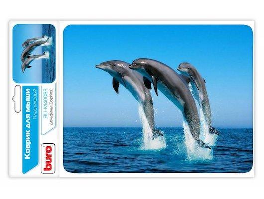 Коврик для мыши BURO BU-M40083 пластиковый дельфины