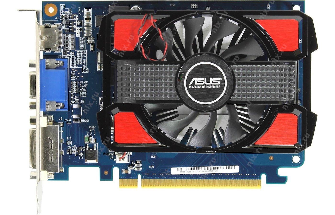 Видеокарта Asus PCI-E GT730-2GD3 nVidia GeForce GT 730 2048Mb 128bit Ret
