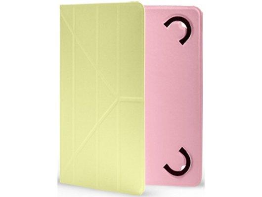 Чехол для планшетного ПК Gresso Дабл для планшета 7-8 дюймов желто-розовый
