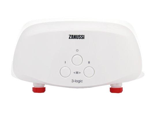 Водонагреватель ZANUSSI 3-logic 3.5 TS (душ+кран)