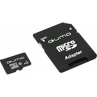 Карта памяти QUMO microSDHC 4Gb Сlass 10 + адаптер