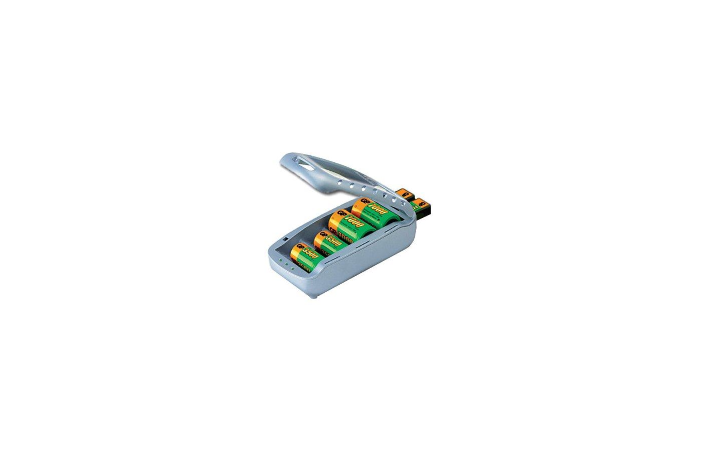 Зарядное устройство GP PB19GS-C1 для 4xAA/4xAAA/4xC/4xD/2x9V