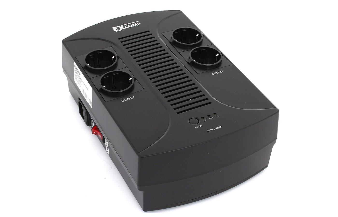 Стабилизатор напряжения EXCOMP AVR 1000VA LED (4 евророзетки)