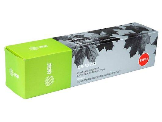 Картридж лазерный Cactus CS-EXV33 черный для Canon iR2520/ iR2525/ iR2530/ iR2525i/ iR2530i (14600стр.)
