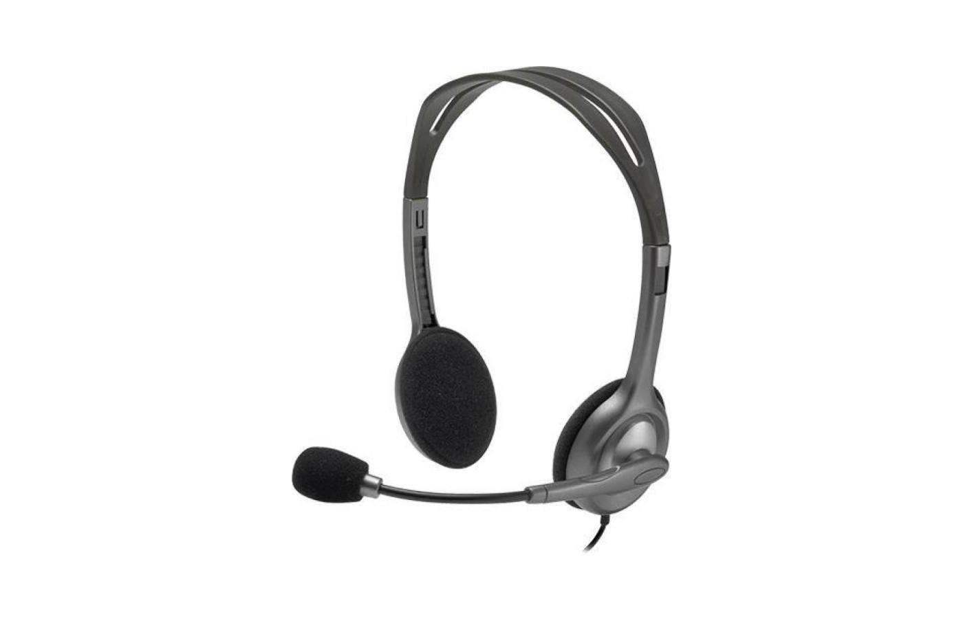 Наушники с микрофоном проводные Logitech Headset H111 Stereo (981-000593)