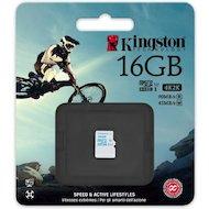 Карта памяти Kingston microSDHC 16Gb Class 10 UHS-I U3 (SDCAC/16GBSP) r90/w45