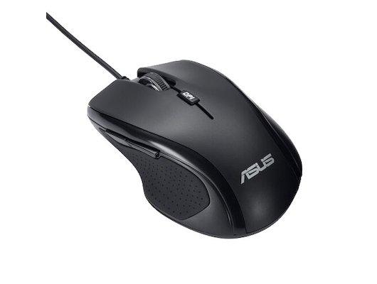 Мышь проводная Asus UX300 черный оптическая (1600dpi) USB (5but)