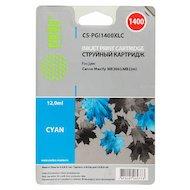 Картридж струйный Cactus CS-PGI1400XLC синий для Canon MB2050/MB2350/MB2040/MB2340 (11.5мл)