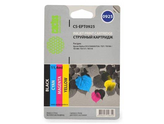Картридж струйный Cactus CS-EPT0925 черный/голубой/пурпурный/желтый набор карт. для Epson Stylus C91/CX4300/T26/T27/TX