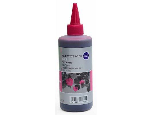 Картридж струйный Cactus CS-EPT6733-250 Чернила совместимые пурпурный (250мл) Epson L800