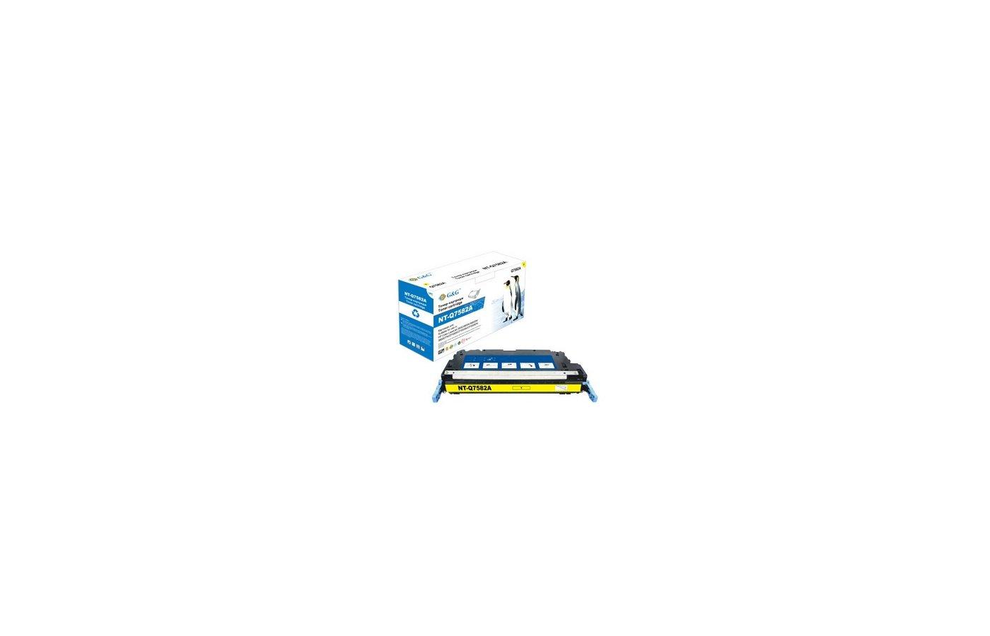 Картридж лазерный GG NT-Q7582A Совместимый желтый для НР Color LaserJet 3800 CP3505 (6000стр)