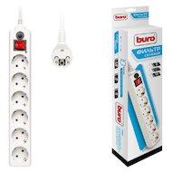Сетевой фильтр BURO 600SH-5-W 6роз./5м. белый