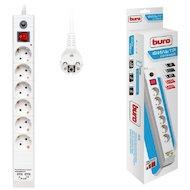 Фото Сетевой фильтр BURO BU-SP3-USB-2A-W 6роз./3м. белый
