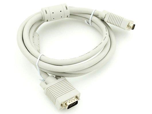 Видео кабель Кабель VGA(m) - VGA(m) Premium. Тройной экран, ферритовые кольца 3м (694579)