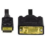 Фото Видео кабель Hama H-54593 DisplayPort - DVI (m-m) 1.8м 3зв черный