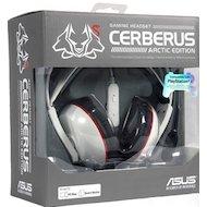 Фото Игровые наушники проводные Asus Cerberus Arctic 1.2м белый проводные (оголовье)