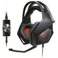 Игровые наушники проводные Asus Strix Pro черный/красный (2.7м) мониторы (оголовье)