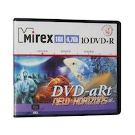 DVD-диск DVD+R Mirex DVD-aRt NEW HORIZONS 4.7 Гб 16x  Портмоне пластик 10 (UL130082A1V)