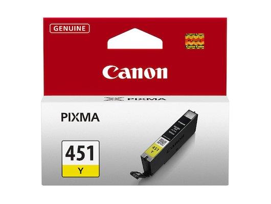 Картридж струйный Canon CLI-451Y 6526B001 желтый