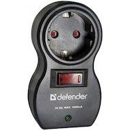 Фото Сетевой фильтр Defender Voyage 100 1 розетка 2 USB Black