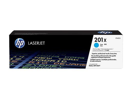 Картридж лазерный HP 201X CF401X голубой для HP CLJ Pro M252/M277 (2300стр.)