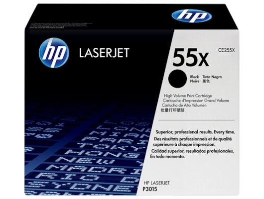 Картридж лазерный HP 55X CE255X черный для HP LJ P3015 (12500стр.)