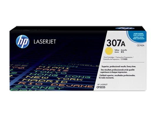 Картридж лазерный HP CE742A желтый для HP CLJ CP5225 (7300стр.)