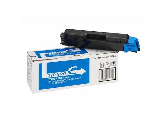 Картридж лазерный Kyocera TK-590C голубой (5000стр.)