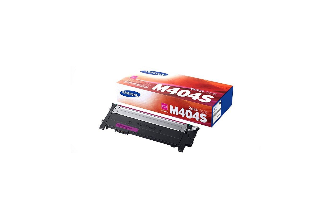 Картридж лазерный Samsung CLT-M404S/XEV пурпурный (1000стр.)