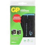 Фото Портативный аккумулятор GP Portable PowerBank GP741CE Li-Pol 4000mAh 2.1A черный/голубой 1xUSB