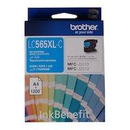 Фото Картридж струйный Brother LC565XLC голубой (1200стр.)