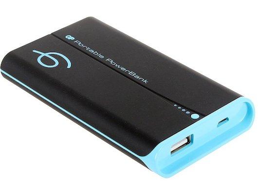 Портативный аккумулятор GP Portable PowerBank GP741CE Li-Pol 4000mAh 2.1A черный/голубой 1xUSB