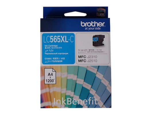 Картридж струйный Brother LC565XLC голубой (1200стр.)