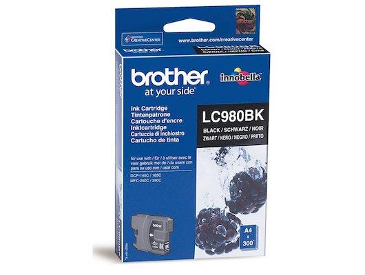 Картридж струйный Brother LC980BK черный (300стр.)