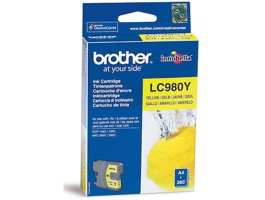 Картридж струйный Brother LC980Y желтый (260стр.)