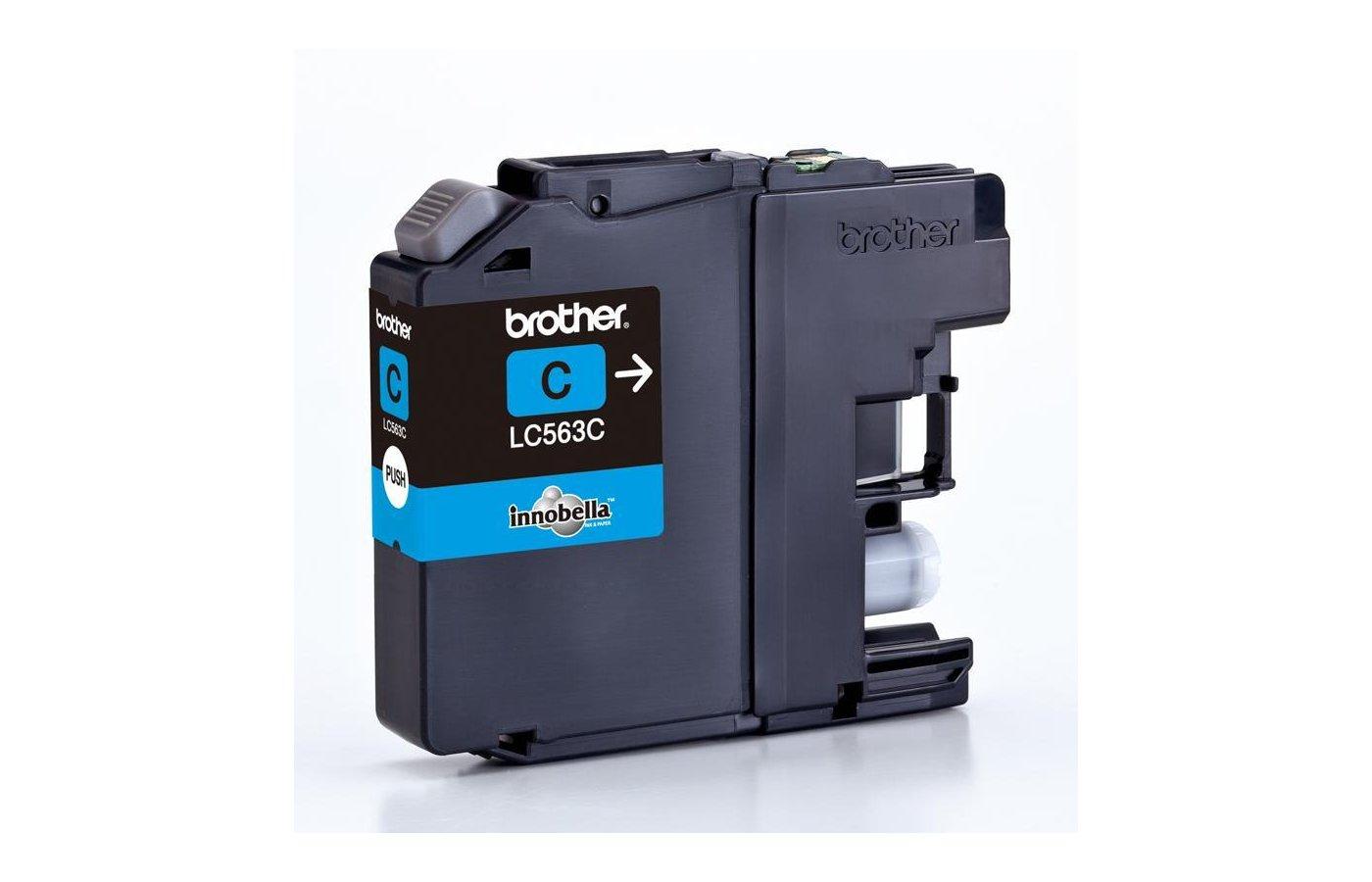 Картридж струйный Brother LC563C голубой (600стр.)