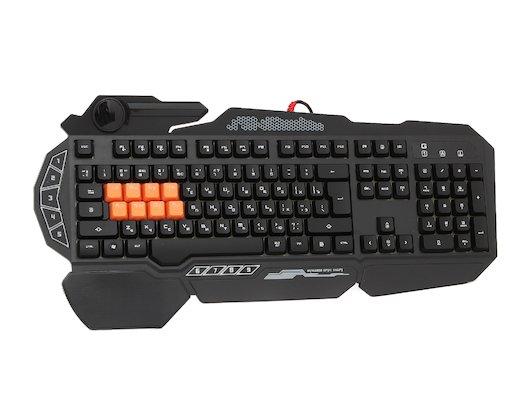 Клавиатура проводная A4Tech Bloody B318 Black USB