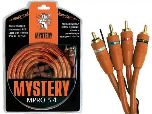 Комплект для подключения автозвука MYSTERY MPRO 5.4 !кабели RCA, штекера, разв-ли