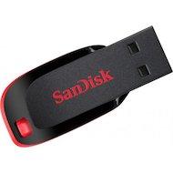Фото Флеш-диск USB 2.0 Sandisk 128Gb Cruzer Blade SDCZ50-128G-B35 черный красный