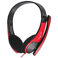 Наушники с микрофоном проводные Oklick HS-M150 черный/красный 2м (NO-003N)