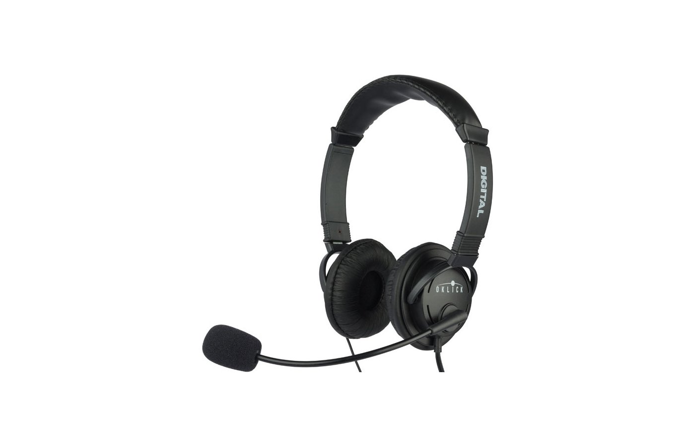 Наушники с микрофоном проводные Oklick HS-M133V Регулятор громкости
