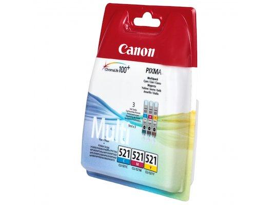 Картридж струйный Canon CLI-521 2934B010 голубой+пурпурный+желтый для PIXMA MP540/620/630/980
