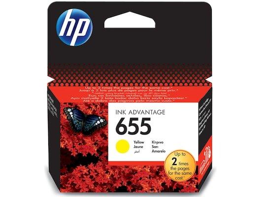 Картридж струйный HP 655 CZ112AE желтый для Deskjet Ink Advantage 3525, 4615, 4625, 5525, 6525 e-All-in-One (600стр.)