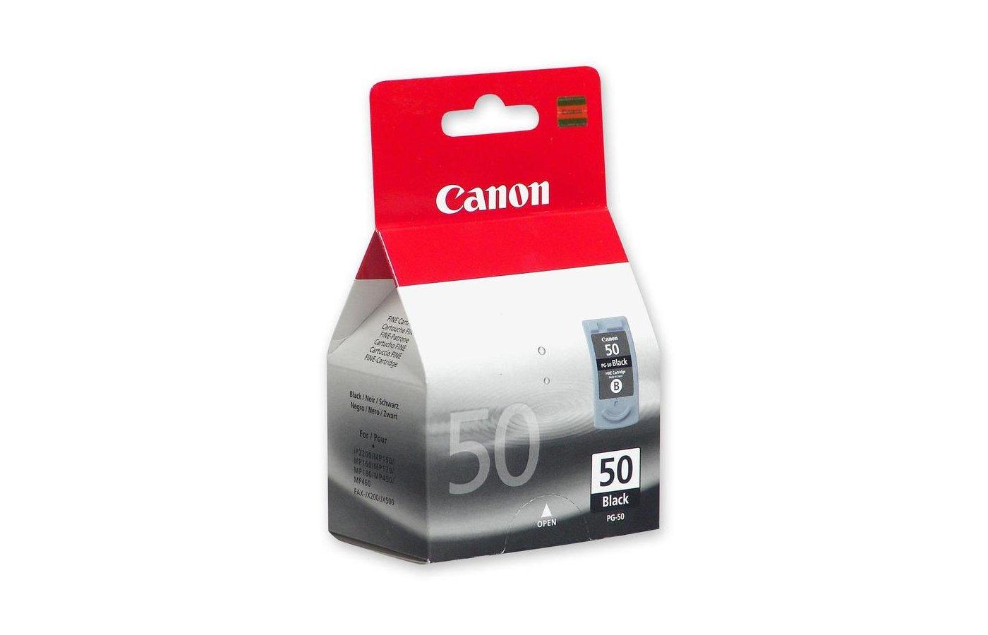 Картридж струйный Canon PG-50 0616B001 черный для PIXMA MP450/150/170, iP6220D/6210D/2200