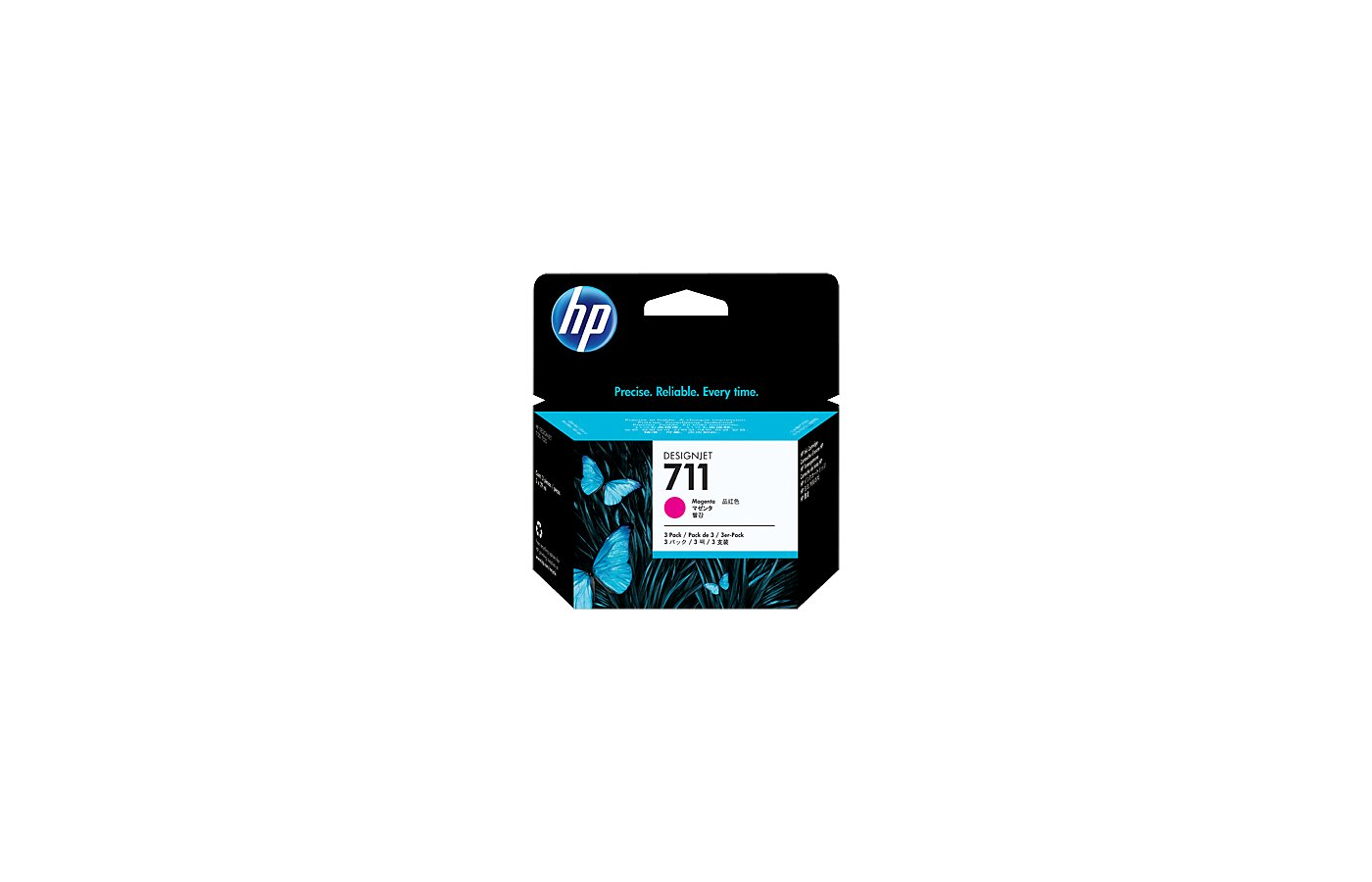 Картридж струйный HP 711 CZ135A пурпурный x3уп. для HP DJ T120/T520